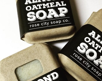 Almond Oatmeal Soap | Artisan Soap | Coconut Oil | Natural Soap