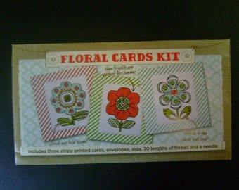 Floral Cards Kit - Counted Cross Stitch - from Cross Stitcher Magazine