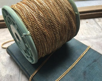 250 feet of Vintage Brass Curb Chain by the Foot 3.5mm Chain Vintage Chain Bulk Chain Curb Chain Bulk Lot Chain