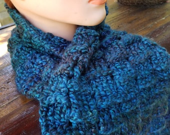 Cozy blue scarf