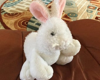 Vintage Ganz White rabbit, can be Personalized on Ears