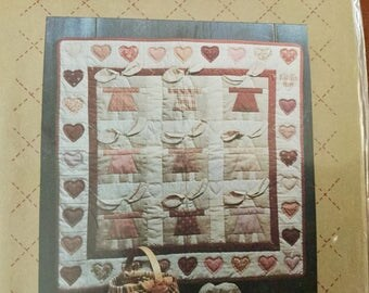 Floppy Ears Quilt Pattern with Heart Border from Bear Paw Designs