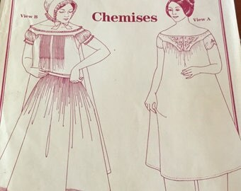Vintage 1983 Chemises Past Pattern Bust size 33-41, excellent condition