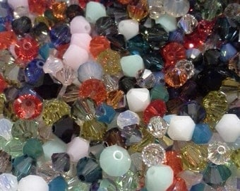Huge Swarovski Bead Mix  Crystal Beads 3 4 and 5mm