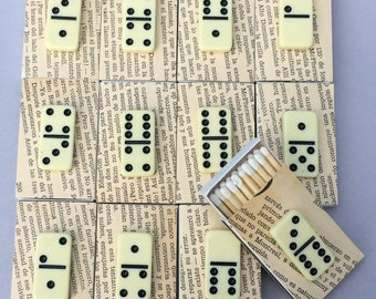10 Domino Matchboxes - Party Favor - Swag Bag - Wedding Favor