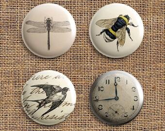 Set Of 4 Eclectic Range Pinback Button Badges (ER)