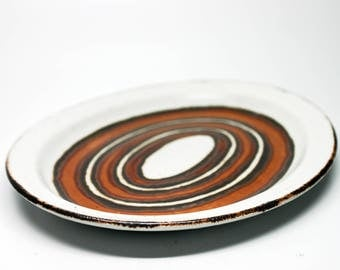 Stonehenge by Wedgwood Midwinter Ltd. Earth Pattern Oval Serving Platter - Plate - Made in England