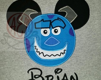 Personalized Sulley Monster Mickey Unisex Shirt