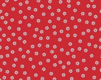 SALE!!  Sew Cherry 2 By Lori Holt Daisy Red (C5803-Red)