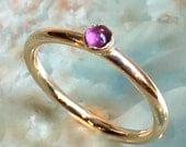 February birthstone ring, Gold ring, Gold Filled ring, Amethyst ring, stacking ring, custom ring, dainty ring, stone ring - So happy R2453