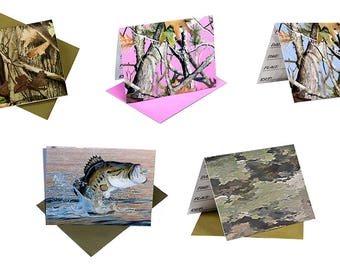 Party Celebration Invitations - Heroes - Camo - Gone Fishing - 8 with Envelopes per pack - 5 styles 7665-20 fnt