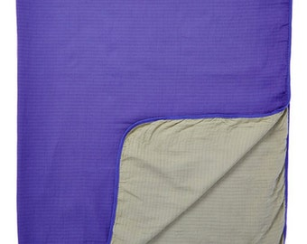 "Purple-Gray 2-layer Big Bambino: made with 100% Organic Cotton Muslin. (extra large 60""x72"") for older kids & adults"