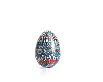 Painted Easter Eggs:Colorful painted eggs Easter decor painted plaster eggs ornamental