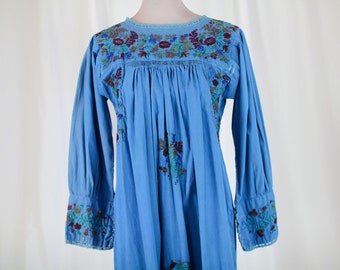 Long-Sleeved Oaxacan Embroidered Dress
