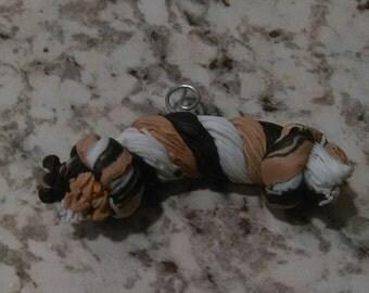 Dog Toy rope bone tug of war Christmas Ornament Gift tag or fridge magnet