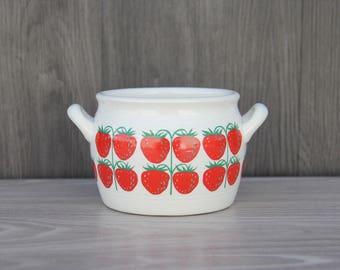 Arabia Finland Strawberry Jam Pot