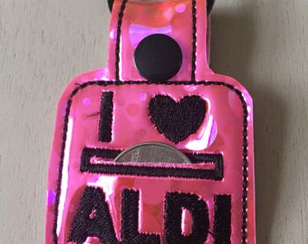 I Love Aldi Keyring - Quarter Keeper