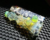 Silver and Gold Fumed Chillum