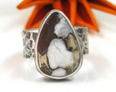 Custom Wild Horse Magnesite Ring - size 7 - Sterling Silver