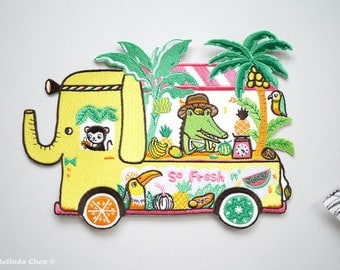 Tropical Fruits Truck XXL Back Patch