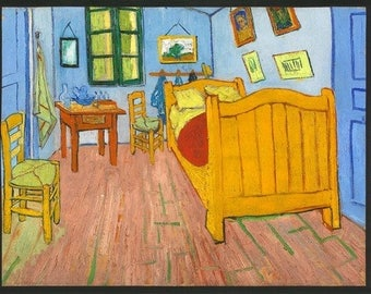 Van Gogh Room Various Scenes Kaufman Fabric Panel