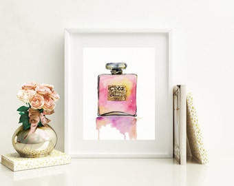Chanel Perfume Bottle Print