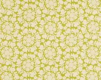 Petit Henna Garden Grass Color ~ Strawberry Moon by Sandy Henderson, Collection from Michael Miller