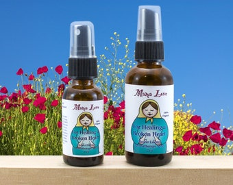 Flower Essence Aromatherapy for Grief, Loss, Healing a Broken Heart, Organic, Reiki-Infused, Bach Flowers and Essential Oils