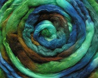 150g Space-dyed Alpaca/Merino /Silk Top 40/40/20 - Estuary