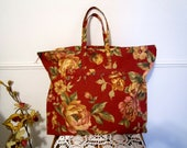 Floral Bag, Canvas Bag, Large Bag, Shopping Bag, Messenger  Bag, Beach Bag, Travel Bag, Handmade Tote, Hand Bag, Casual Bag, Reusable Bag