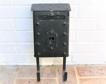 Vintage Metal Iron Mailbox Vintage Wall Mount Mission Style Mailbox With Paper Holder
