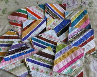 Set of 50 Quilt blocks, made with selvages 6 x 6 inches