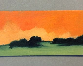 MINI 1720, original painting, oil, landscape, 100% charity donation, Cancer Research