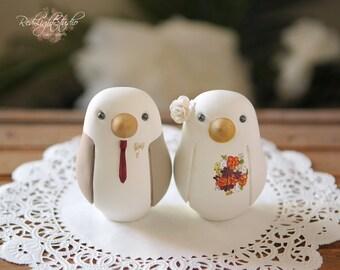 Love Birds Wedding Cake Topper - Medium