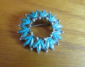 turquoise wreath brooch