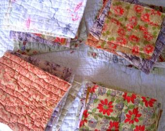 Patchwork - French Quilt Bundle - Lot of 7 Pieces