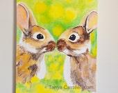 Bunny Kisses Original Pai...