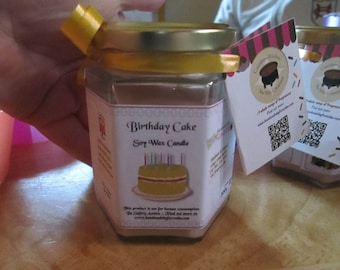 Birthday Cake Scented Soy Wax Candle 300g