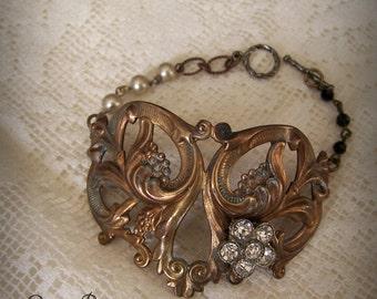 Escutcheon Bracelet Vintage Hardware Bracelet Altered Jewelry Vintage Gypsy Bracelet Altered Bracelet Boho Style