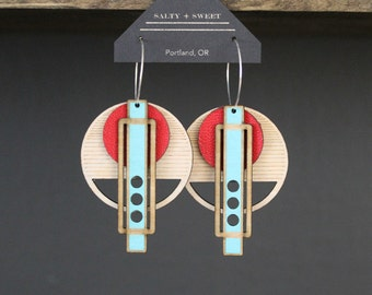 Laser cut earring | WRIGHT: Red
