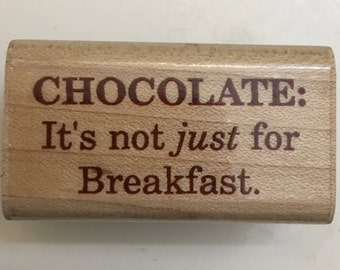 Inkadinkado Wood Mounted Rubber Stamp. Chocolate.
