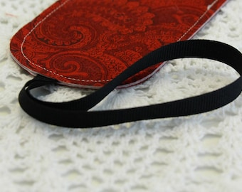 Christmas Paisley - Singe Luggage Tag