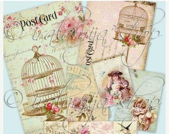 SALE PRECIOUS collage Digital Images  -printable download file-