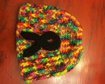 Autism Awareness Messy Bun Beanie