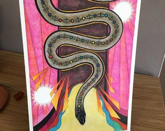 Inland Taipan as Totem - Original Art