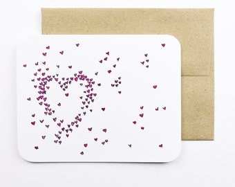 Little hearts card with envelope | Hearts | Little hearts | Heart card | Greeting card | Wedding card | Valentine