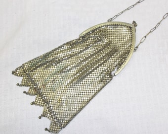 20s 30s Vintage Gold Mesh Evening Purse Needs TLC