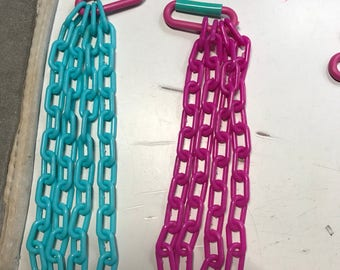 Chain and c links for hanging bucket pouches   Must be combined with bucket pouch purchase