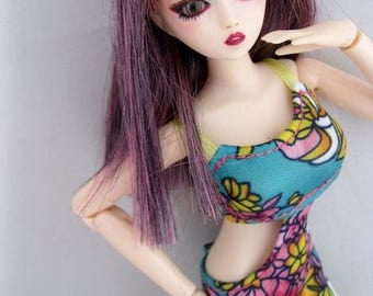 OOAK Repaint Obitsu Gretel can fit barbie clothing DOLL by Ashley