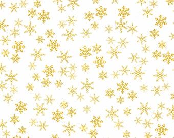 Cotton Fabric Rudolph 50 Years Snowflakes Quilting Treasures  Sewing Crafting Material 1/2 yd cuts